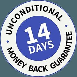 No-risk, money back guarantee
